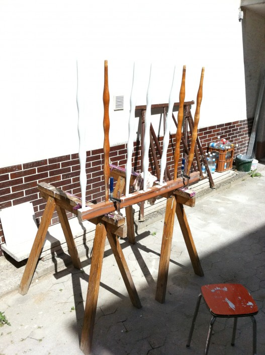 Renovierung der Geländerstäbe