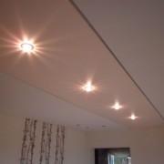 Geteilte Spanndecke mehrfarbig mit Swarovski Kristalle als Beleuchtungssystem